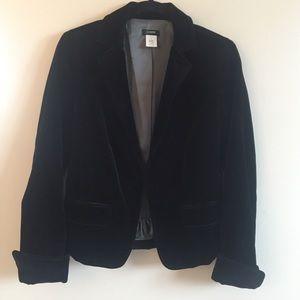 J Crew velour velvet blazer jacket small 6